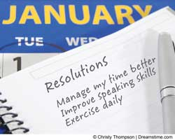 image of New Year resolutions