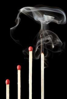 photo of burned-out matches