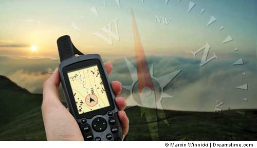 photo of a GPS