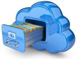 image files in a cloud
