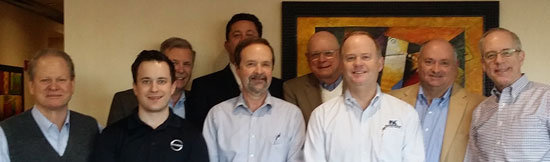 Left to right: Jeff Witt, John Davis, Larry Roy, Chris Schnetzer, Charlie McDonald, Dick Harvey, Tom Hayward, Rick Pierce and Charles Cohon.